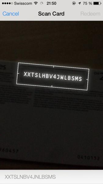 ios 7 itunes karte per kamera einl sen iphoneblog. Black Bedroom Furniture Sets. Home Design Ideas
